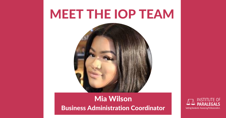 Mia Wilson, Business Administration Coordinator