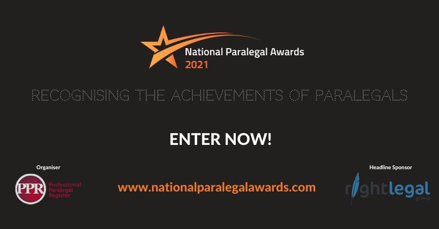 paralegal awards uk